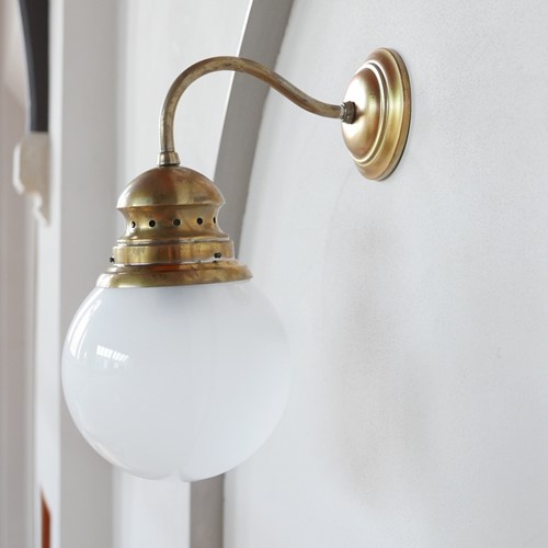 Brass and Glass Luigi Caccia Dominioni Wall Lights