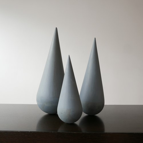 Set of Modernist Geometric Artist Sculptures