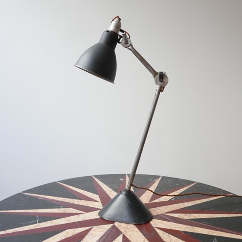 Antique Industrial Bernard-Albin Gras Table Lamp