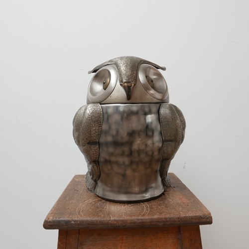French Mid-Century Owl Ice Bucket