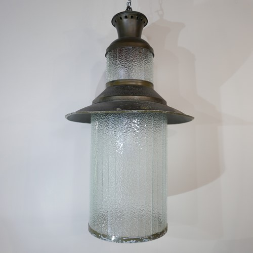 Huge Glass 70s Lanterns