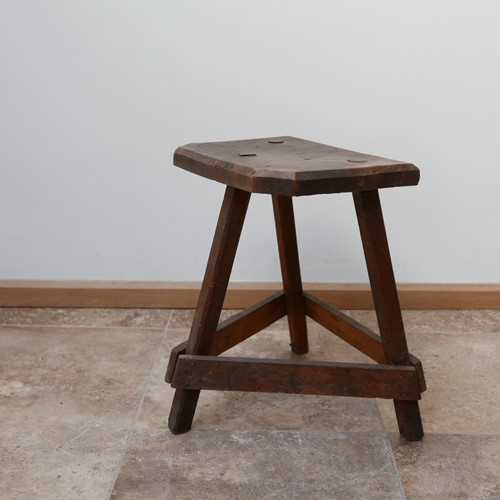 Antique English Wooden Cutler's Stool