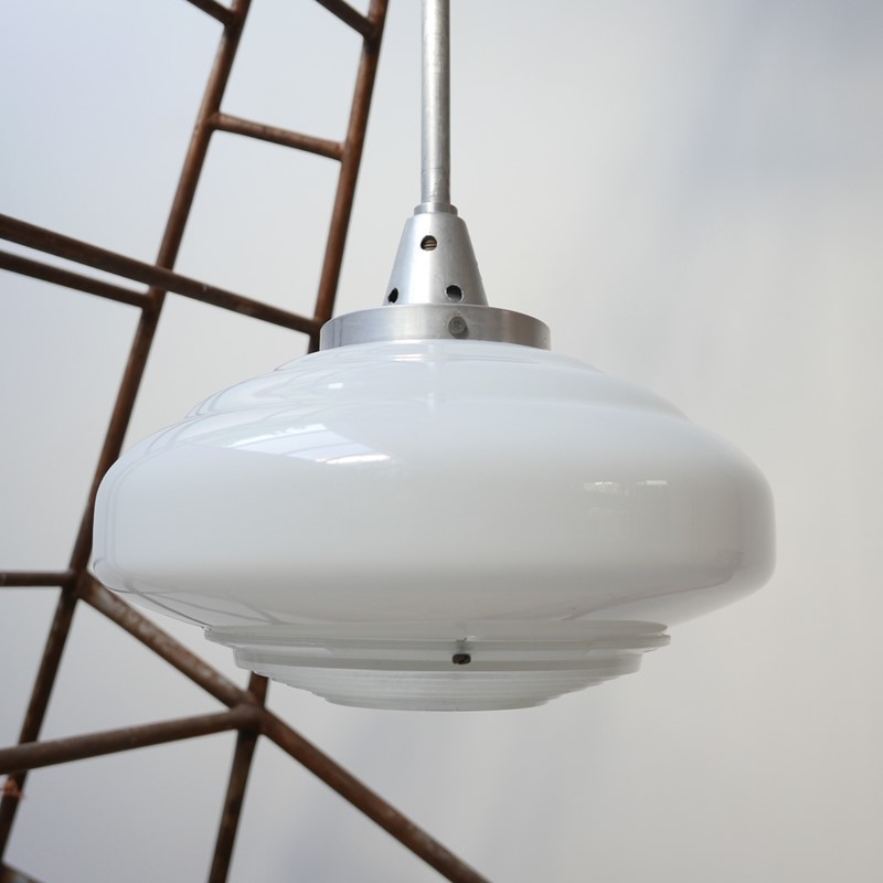 French Holophane Two Tone Glass Opaline pendants -joseph-berry-interiors-img-9453-main-637476910050715279.JPG