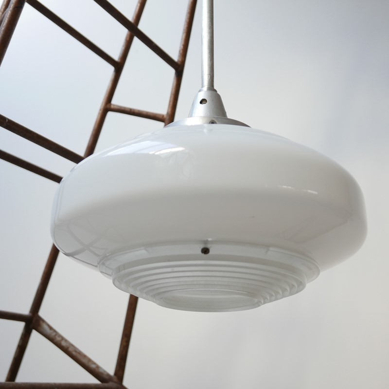 French Holophane Two Tone Glass Opaline pendants -joseph-berry-interiors-img-9456-main-637476910065559260.JPG