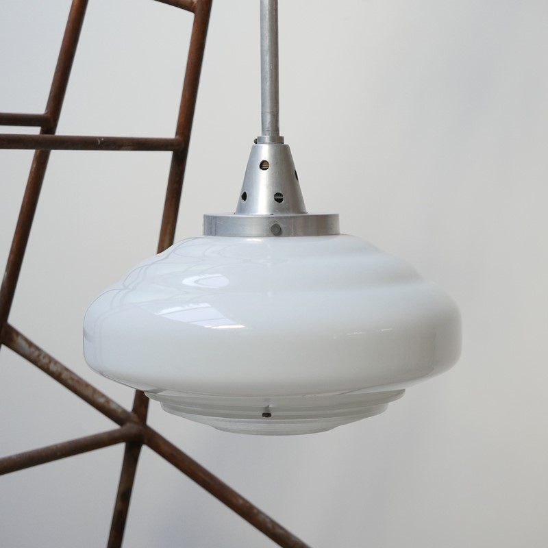 French Holophane Two Tone Glass Opaline pendants -joseph-berry-interiors-img-9458-main-637476910076027449.JPG