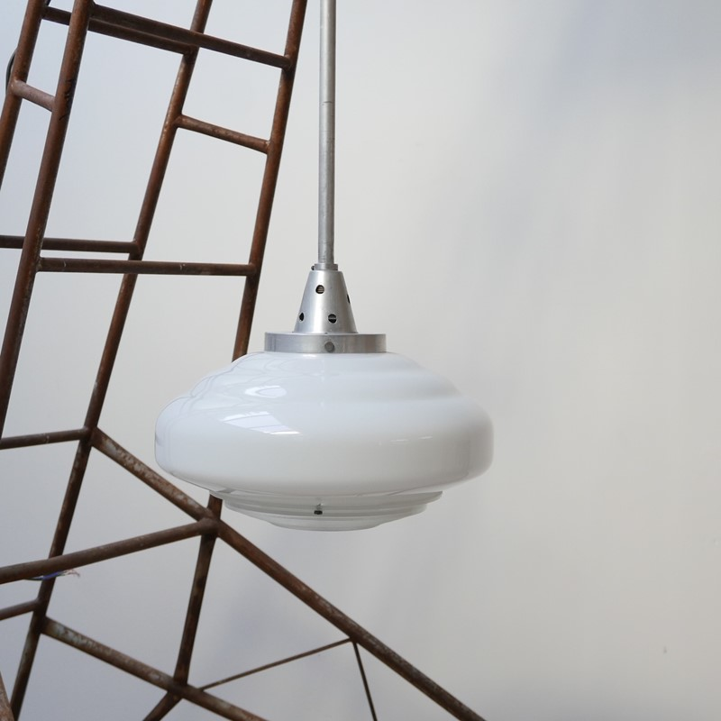 French Holophane Two Tone Glass Opaline pendants -joseph-berry-interiors-img-9459-main-637476910081027457.JPG