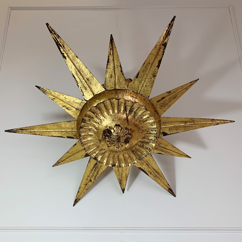 Statement Gilt Metal Spanish Sunburst Light, 1950-lct-home-img-4479-main-637316180298538814.jpg