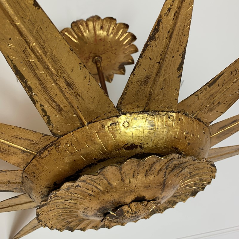 Statement Gilt Metal Spanish Sunburst Light, 1950-lct-home-img-4489-main-637316181452595469.jpg