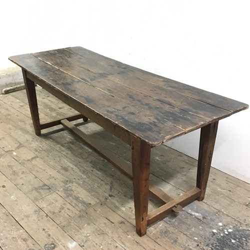 Early 20th C French Oak Refectory Table