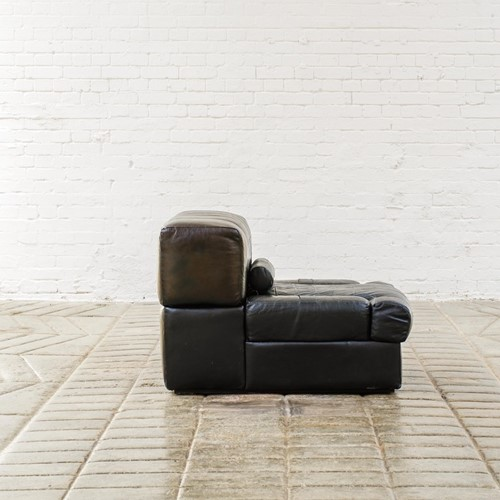 Percival Lafer black leather modular sofas/chairs