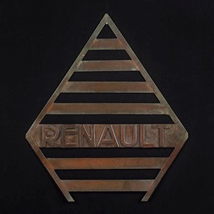 Very Unusual, Early Copper Renault sign