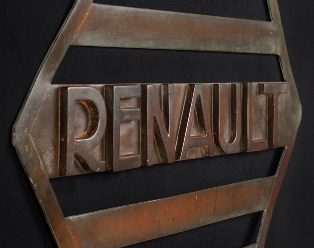 Very Unusual, Early Copper Renault sign-ljw-antiques-0186_angled_main_636352893648176593.jpg