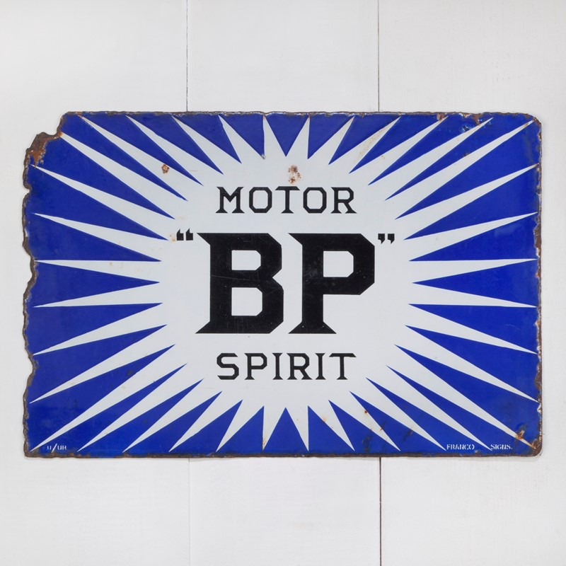 A double-sided BP Irish Flash enamel sign-ljw-antiques-0206_front-main-636766850566610182.jpg