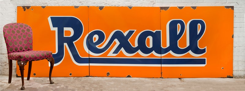 Giant, 3-Part Rexall Pharmacy enamel sign -ljw-antiques-0213_wchair-main-636766795980388703.jpg