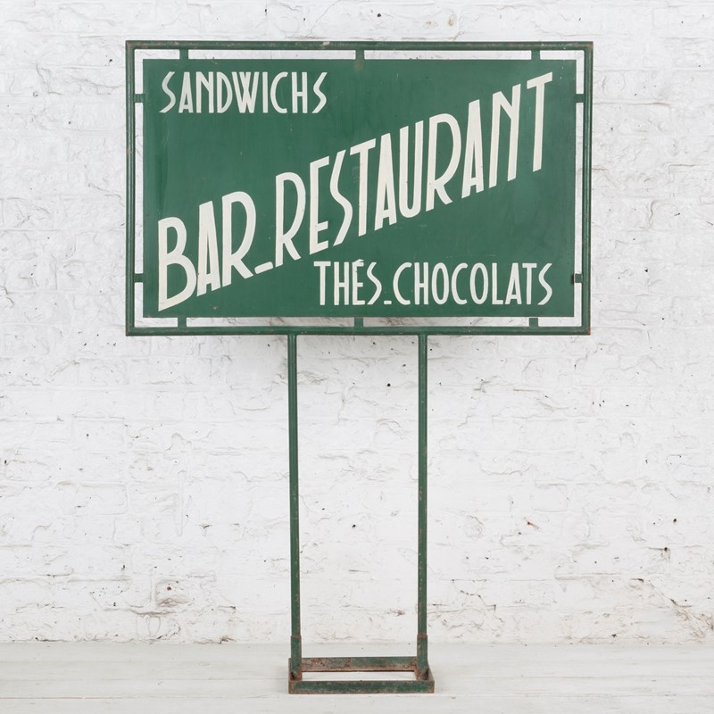 Freestanding French Bar / Restaurant Painted Sign-ljw-antiques-0571-back-main-636824780840647110.jpg