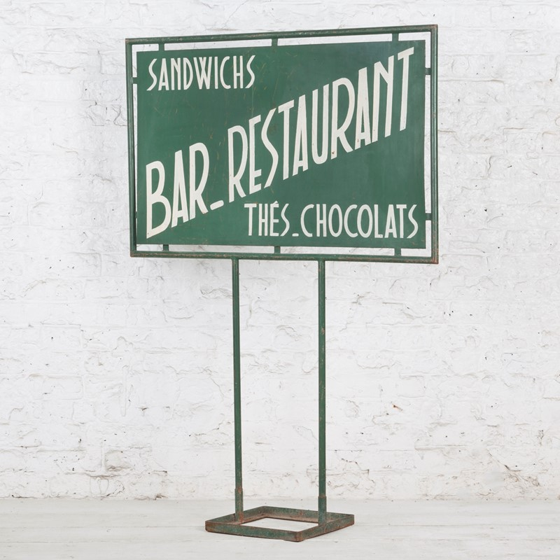 Freestanding French Bar / Restaurant Painted Sign-ljw-antiques-0571-faceleft-main-636824781094257886.jpg