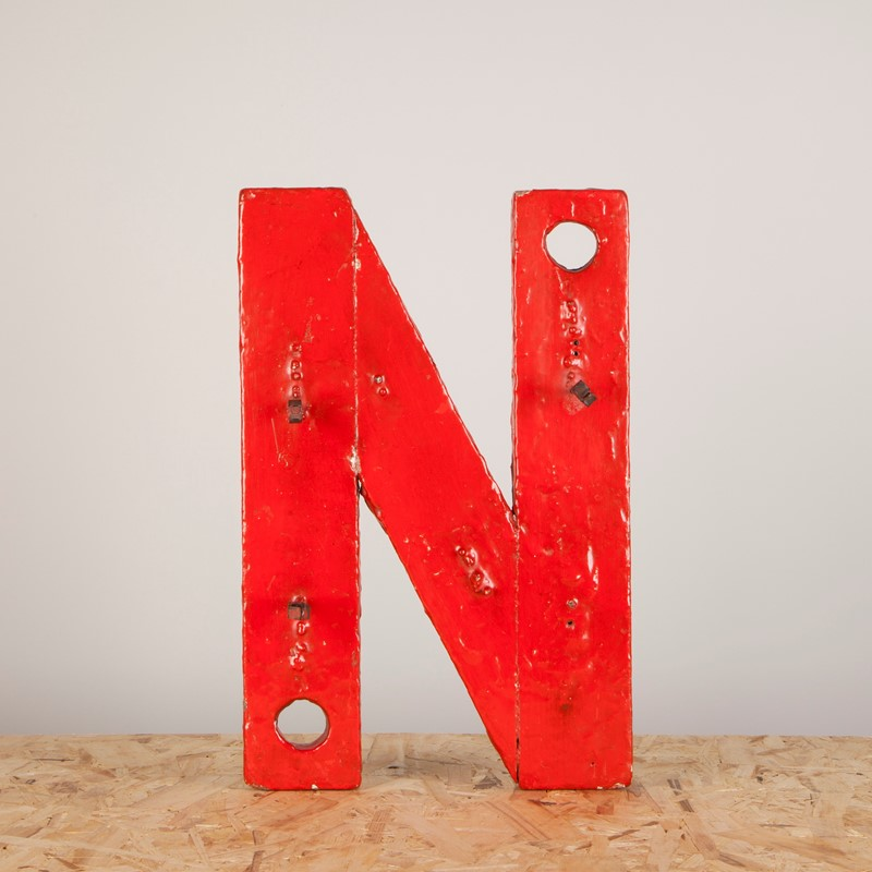 An Original Paint Wooden Neon Backing Letter N-ljw-antiques-1140-1-main-637180647140793801.JPG