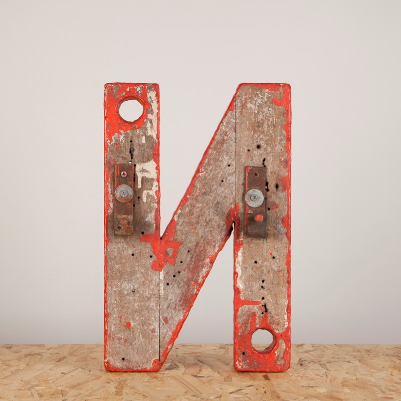 An Original Paint Wooden Neon Backing Letter N-ljw-antiques-1140-2-main-637180647405011406.JPG