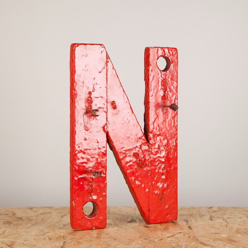 An Original Paint Wooden Neon Backing Letter N-ljw-antiques-1140-3-main-637180647303761637.JPG