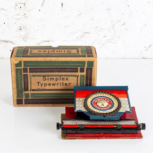 Charming, vintage child's simplex typewriter + box