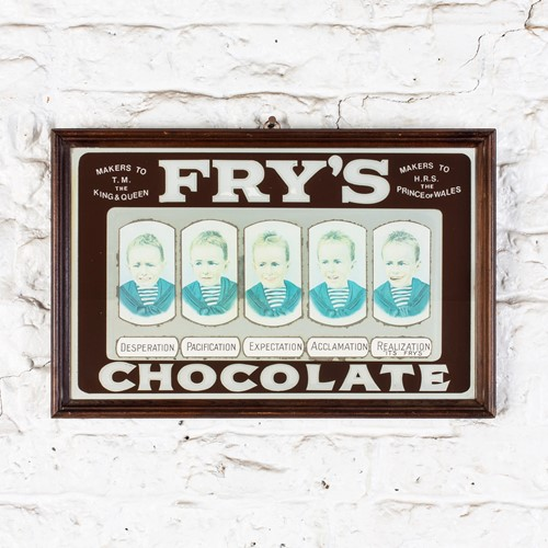 Vintage fry's chocolate advertising mirror