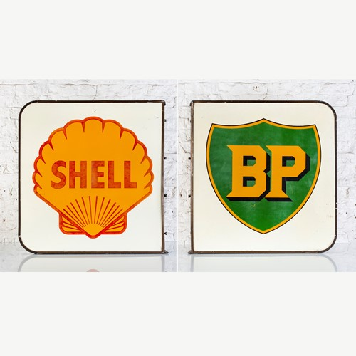Double-sided shell / bp alloy forecourt sign