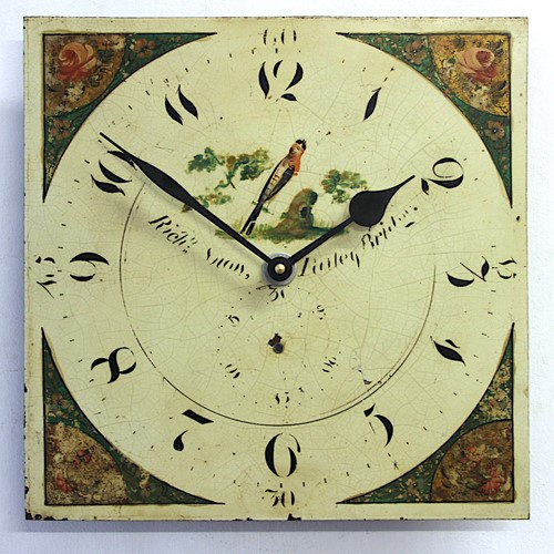 A mid-19th century hand painted vintage wall clock