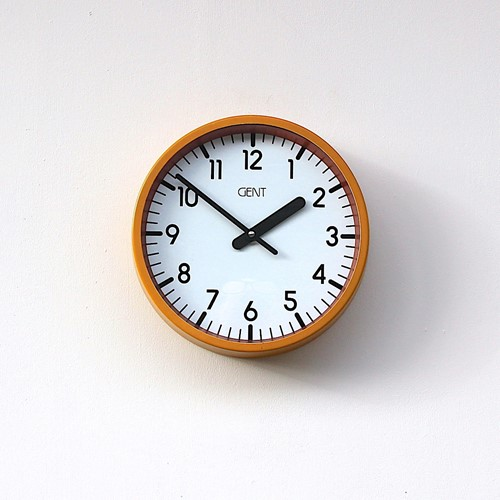 A smaller British Gents Vintage Office Wall Clock