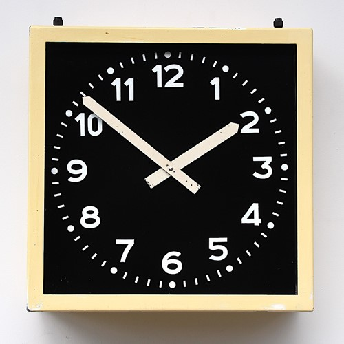 1960s Heavy steel West German vintage wall clock