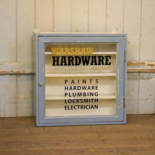 Warshaw Paints Hardware Cabinet
