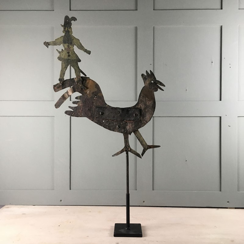 Antique metal weathervane - cockerel-marc-kitchen-smith-ks6973-img-5543-1000px-main-637153993615848400.jpg