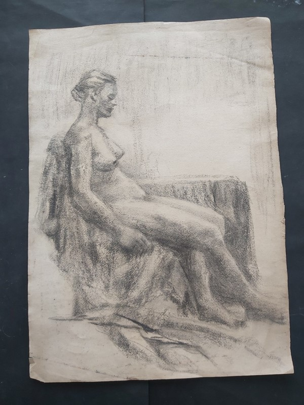 1940s French Charcoal Female Nude Life Study-masthead-art-s15605-2-main-637324177871384512.jpg