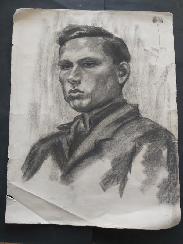 1940s French Charcoal Portrait Male Subject, Large-masthead-art-s15609-2-main-637318102124285273.jpg