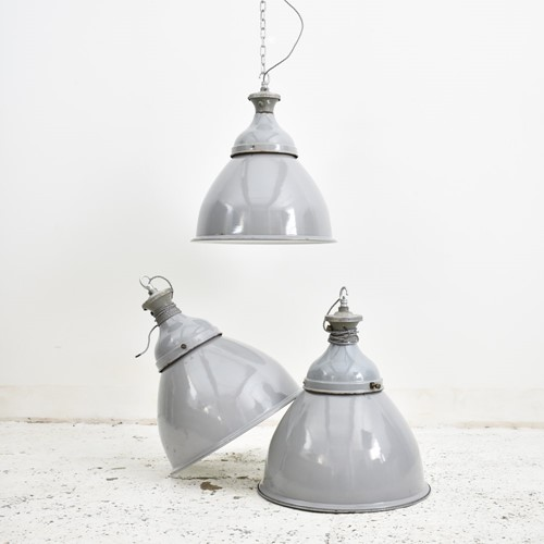 Grey Dome Industrial Pendant Benjamin Light