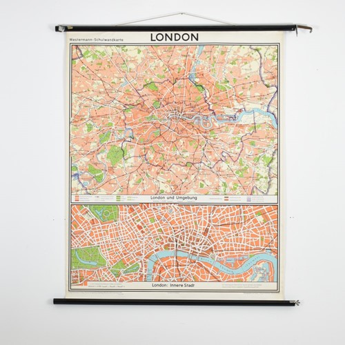 Vintage London Map By Westermann