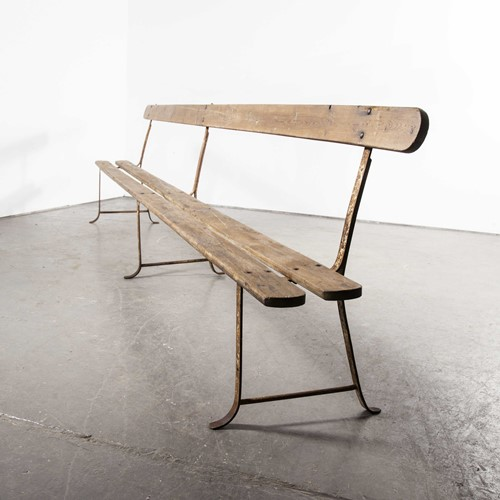 1930's Exceptionally Monastery Bench Four Metre