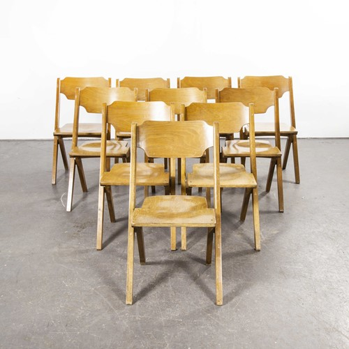 1960's Bombenstabil Stacking Chairs - Set Of Ten