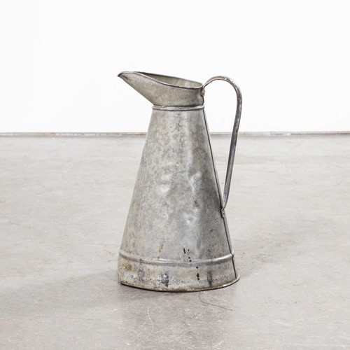 1950's French Galvanised Large Tin Pitcher