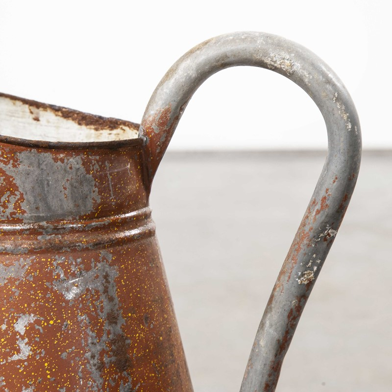 1950's Galvanised Large Tin Pitcher - Earth Red-merchant-found-1049c-main-637499254574795844.jpg