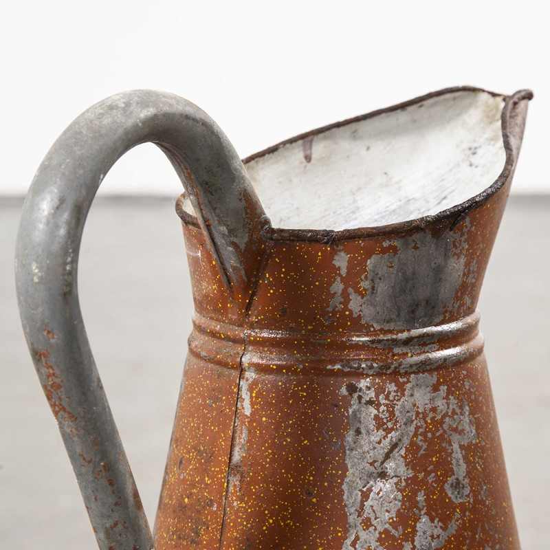 1950's Galvanised Large Tin Pitcher - Earth Red-merchant-found-1049e-main-637499254621826493.jpg