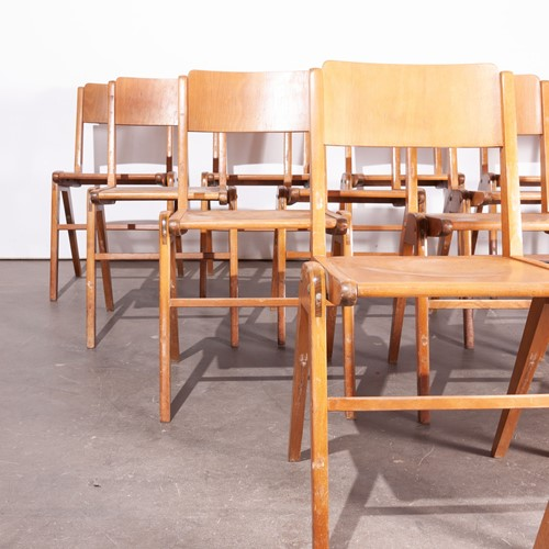 1950's  Vintage Dining Chairs - Set Of Thirty