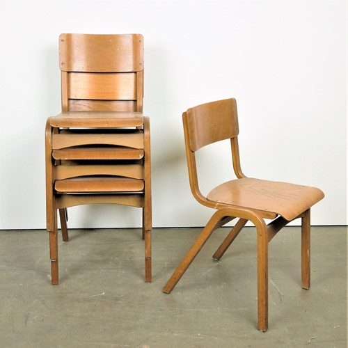 1950's Tecta Stacking Chairs – Set Of Eight