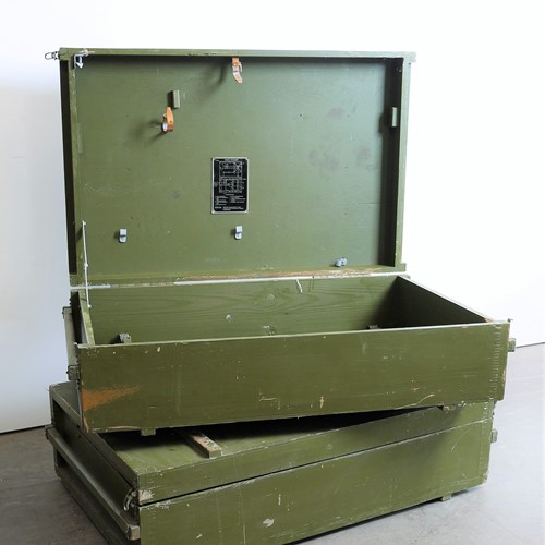 1960's Russian Military Industrial Boxes Low Table