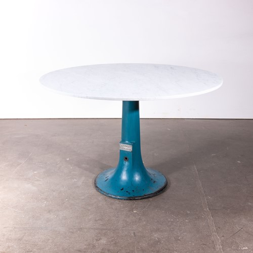1920's  Round Console Table With Marble Top