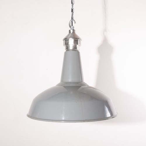 1950's Industrial Large Hanging Ceiling Lamps