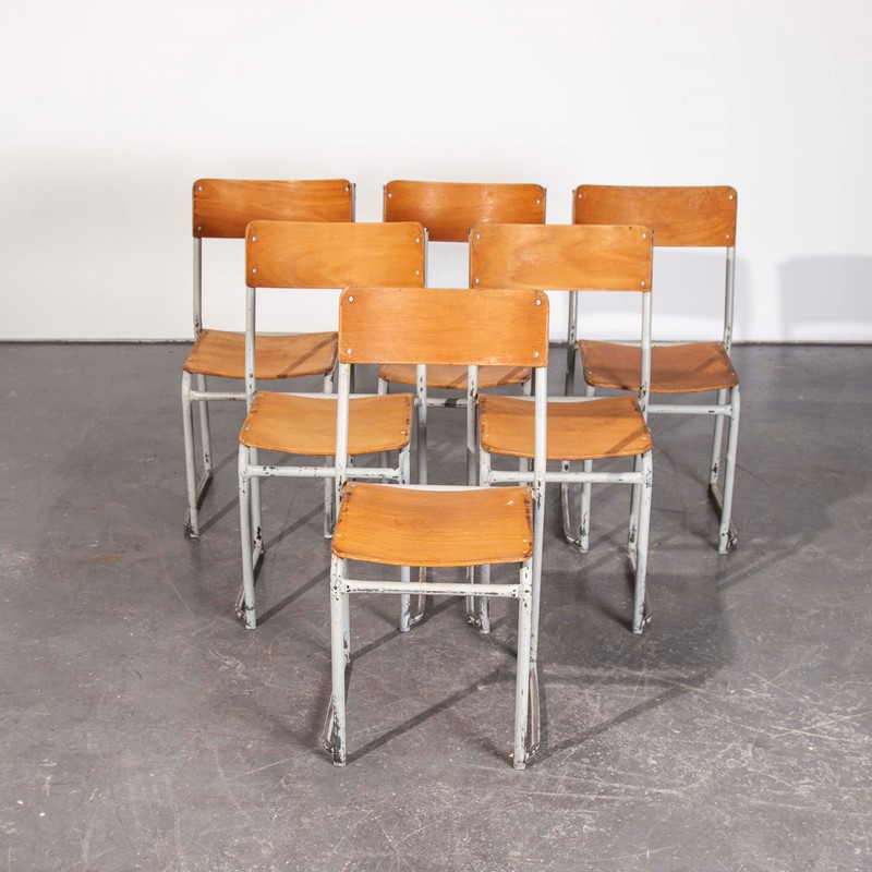 1960's White Frame Dining Chairs - Set Of Six -merchant-found-247e-main-637290474939372397.jpg