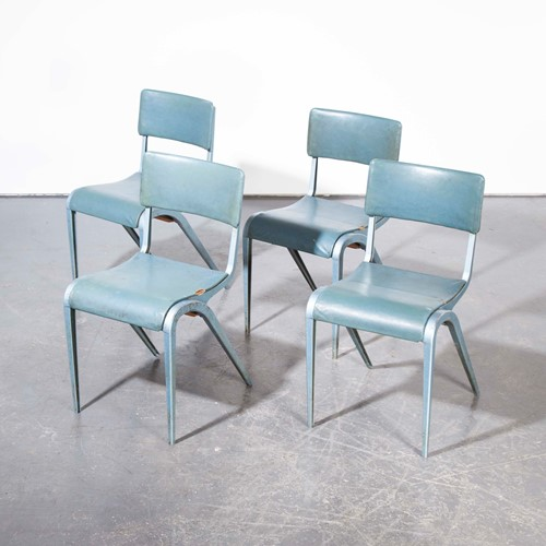 1950's ESA Upholstered  Dining Chairs -Set Of Five