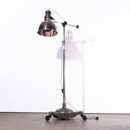 1950's Vintage Standing  Lamp On Wheels