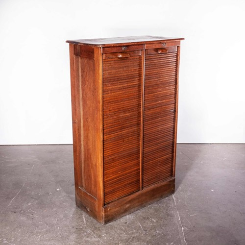 1930's Thonet Tambour Fronted Oak Cabinet