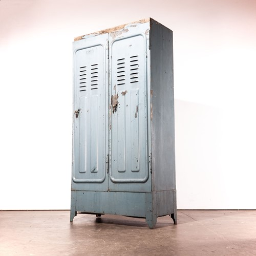 1930's Original Wooden Locker By De Dietrich
